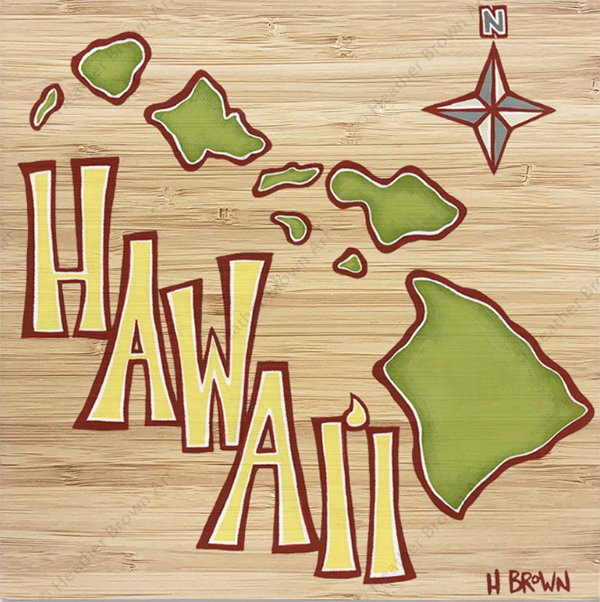 surf art modern Hawaii heather brown