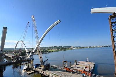 Washington DC bridge construction project, South Capitol Street