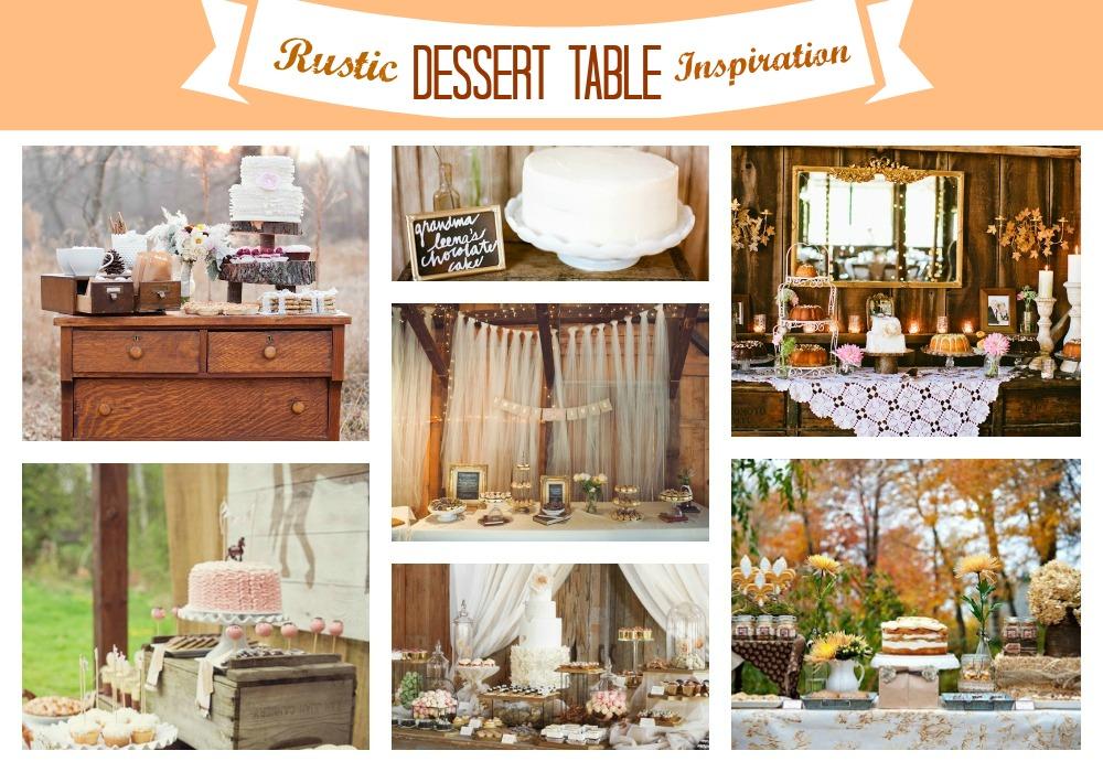 Wedding Sweet Table Ideas: Miss Lovie: Fall Wedding Ideas-Rustic Dessert Table