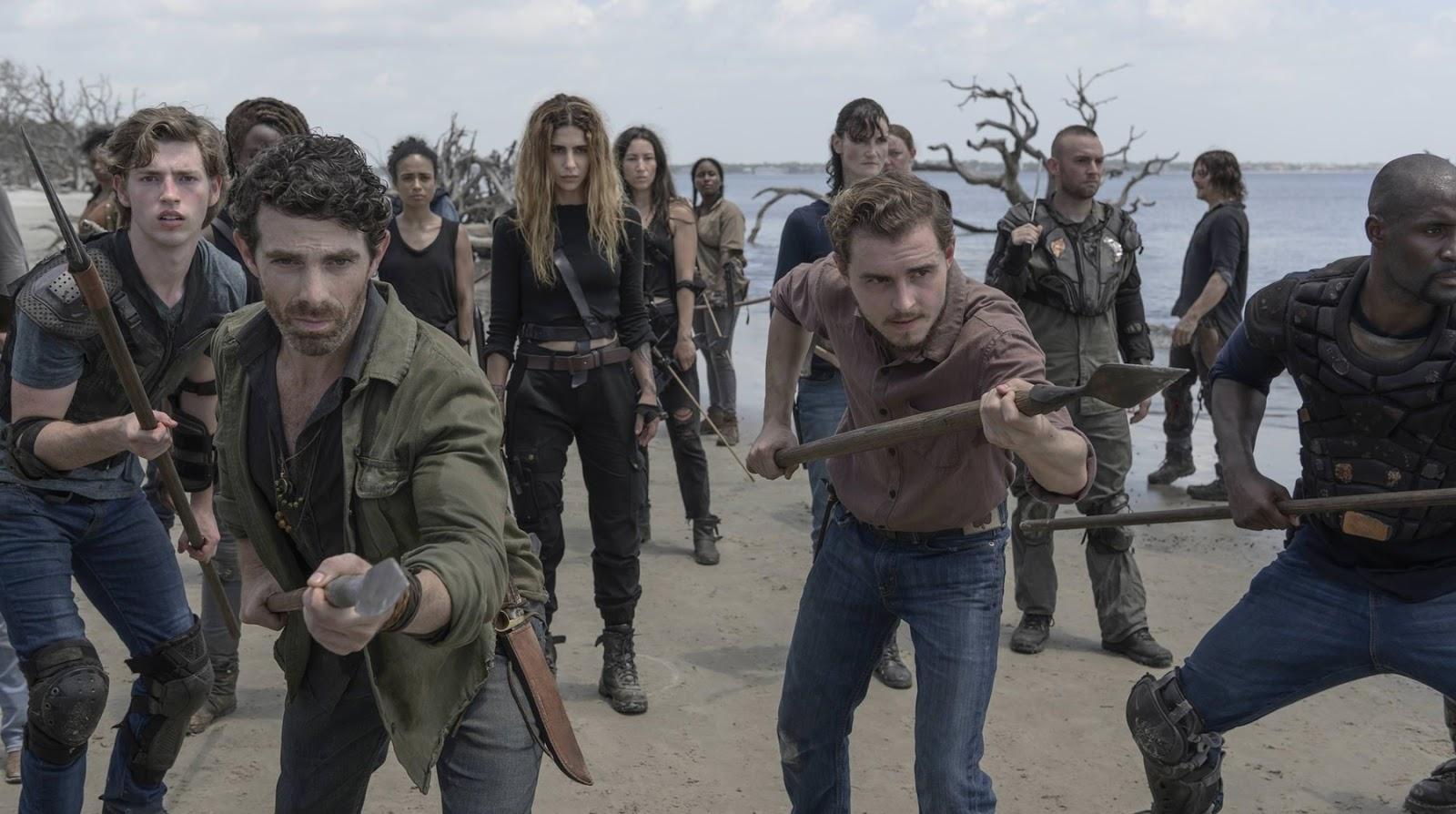 Alden, en el episodio 10x01 de The Walking Dead