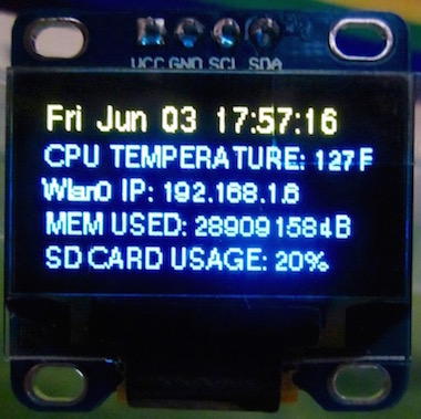 Welcome GNU/Linux Users!: An SSD1306 OLED System Monitor for
