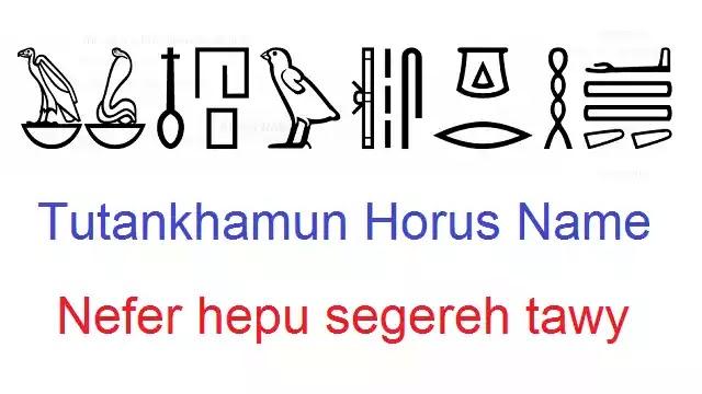 Tutankhamun Horus Name