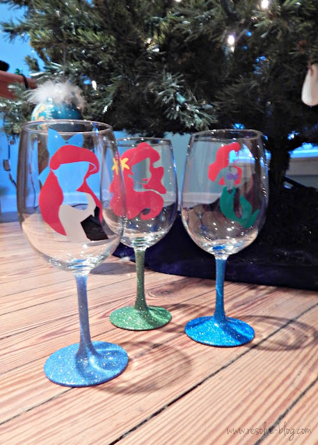 Ariel the Little Mermaid Wine Glasses