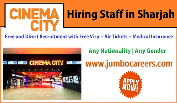 Show all new jobs in Sharjah, UAE Hospitality jobs with free visa and air ticket,