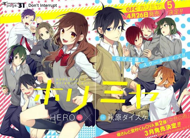 Web Manga Horimiya akan Mendapat Adaptasi Anime! Dikerjakan oleh CloverWorks