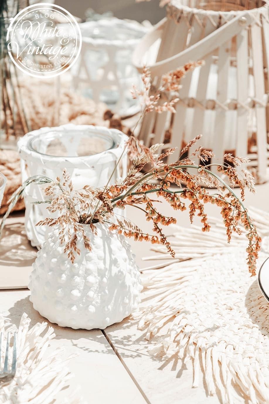 Dekoideen für einen sommerlich gedeckten Tisch