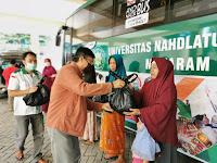 Aksi Bagi-bagi Sembako Kembali Digelar MTB,  Pemuda NW NTB dan Mi6 di Universitas NW Gomong