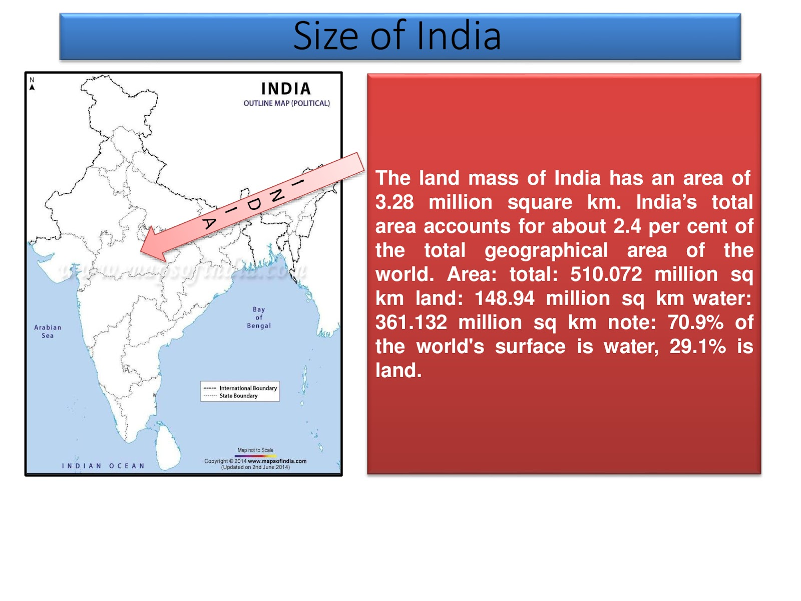 India Size Amp Location Ch 1st Class 9th Geography