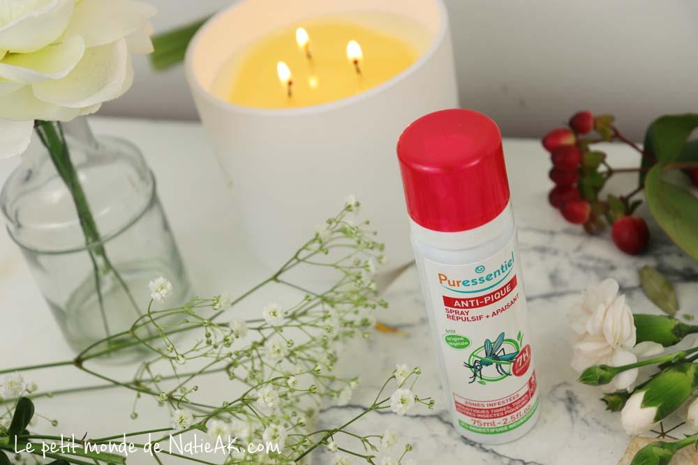 spray répulsif et apaisant anti-pique Puressentiel