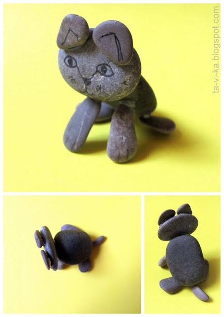 детская поделка из камней
