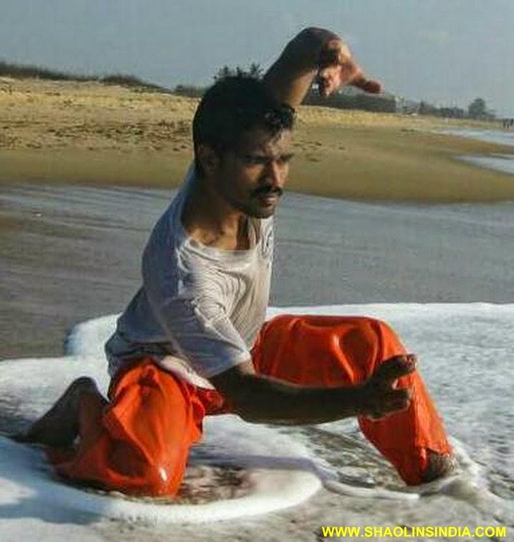 Wing Chun : Shaolin Kung-fu in Indian Shaolin Temple Warrior Monk