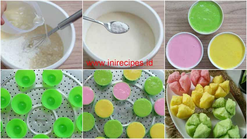 Resep Membuat Kue Mangkok Mekar / Apem Tepung Beras