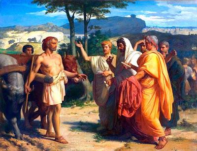 Cincinato recibe a los embajadores de Roma   Cuadro de Alexandre Cabanel (1843)