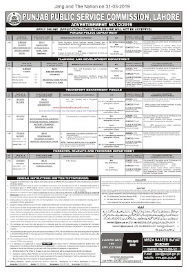The latest PP SC Jobs For Junior Clerk, Assistant Director, Transport Sub Inspector And Many More