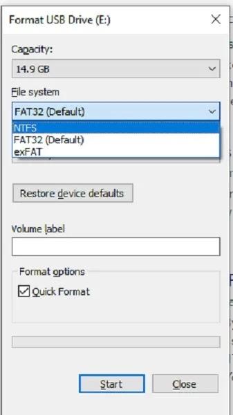 كيفية إنشاء محرك أقراص الاسترداد لنظام التشغيل Windows 10 بتنسيق Ntfs