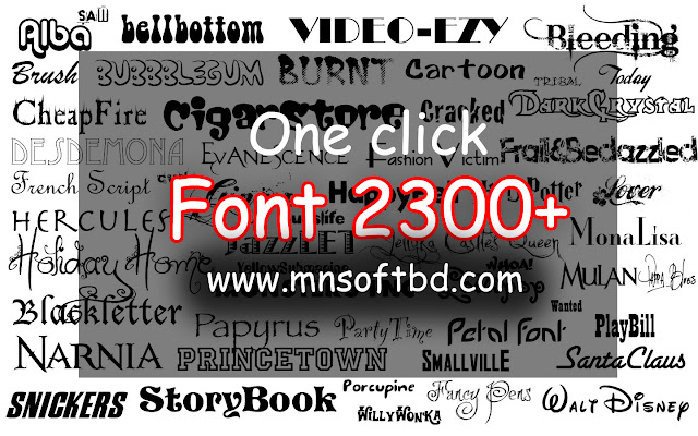 Most Popular Fonts Pack Free Download [ Total Pack 2300+ Font ]