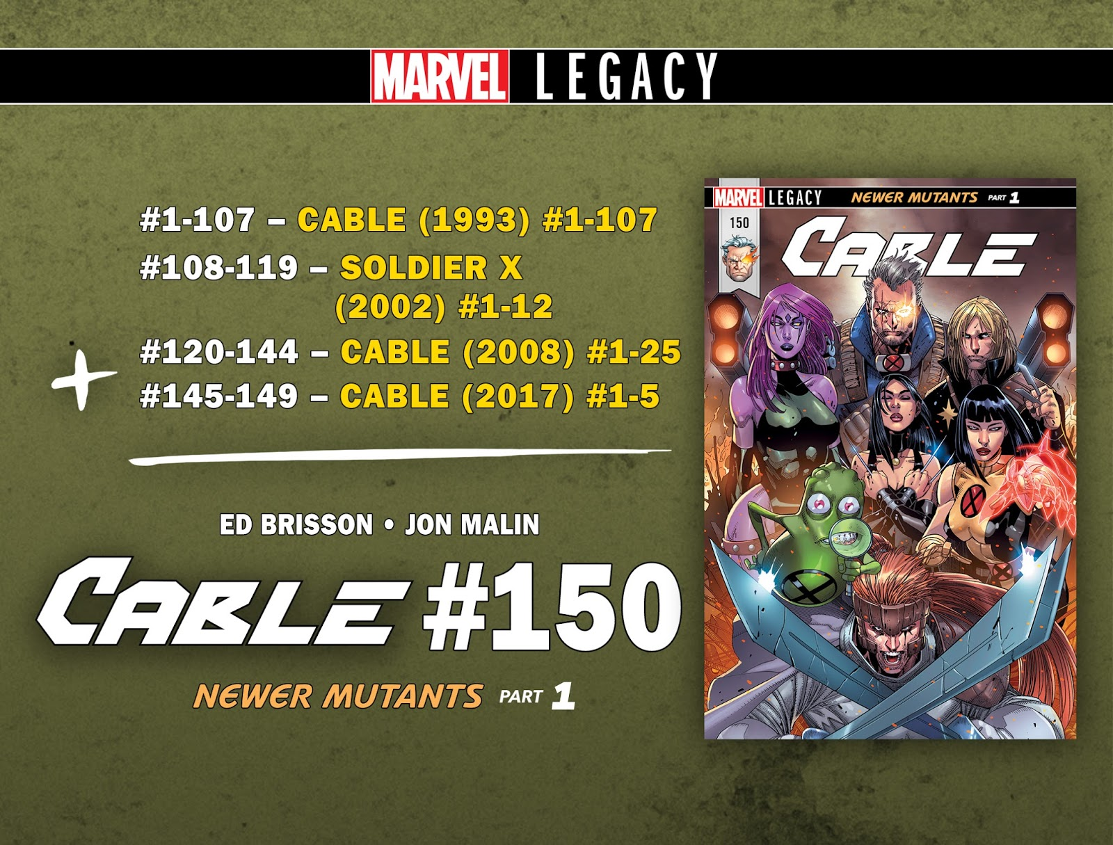 CABLE #150: THE NEWER MUTANTS PART 1