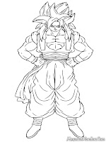 Gogeta Dragon Ball Z Coloring Pages