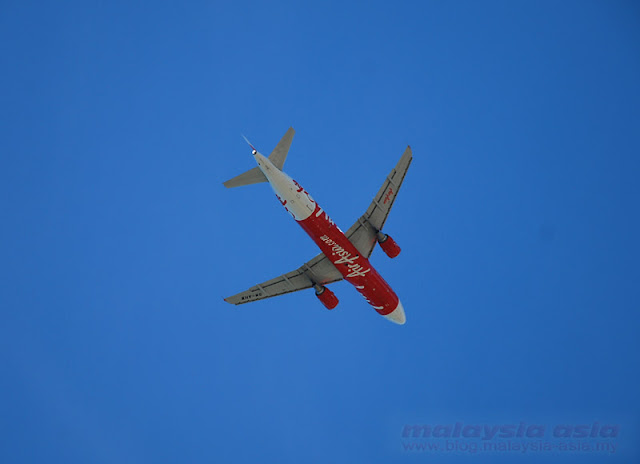 Bottom View of AirAsia Plane