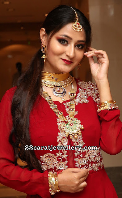 Niloufer Fancy Choker Kundan Long Chain