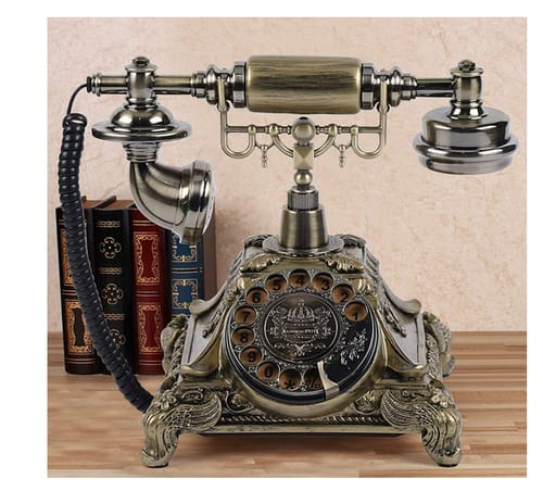 TFCFL Retro Vintage Old Landline Phone with Rotary Dial