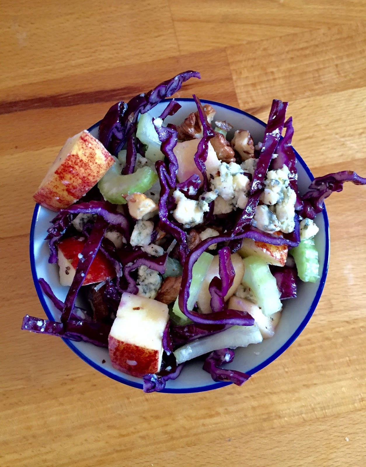 Stilton Cheese & Red Cabbage Salad With Apple from Captainbobcat.com