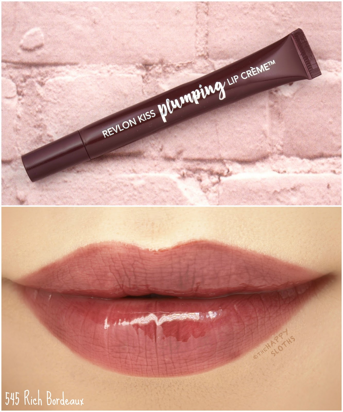 "Revlon | Kiss Plumping Lip Creme in ""545 Rich Bordeaux"": Review and Swatches"