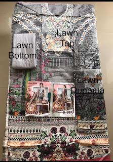Agha Noor Lawn vol 3 pakistani Lawn Dress Material