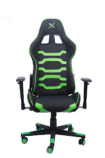 CarbonXpro Aurora Series Ergonomic Gaming Chair Racing Style Adjustable Height High Back for Relaxing, Green