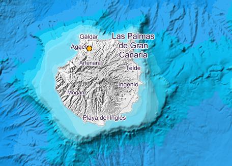 Terremoto sentido en Santa María de Guía, Gran Canaria