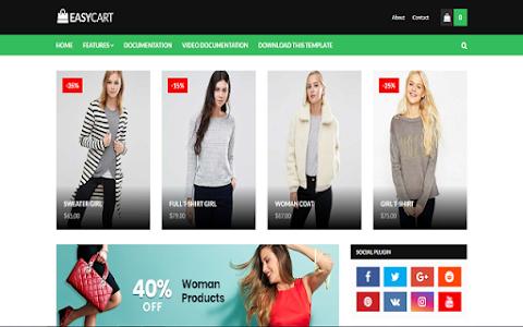 E-commerce Website Blogger Templates Free Download