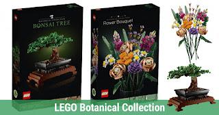 LEGO Botanical Collection, LEGO Bonsai Tree, LEGO Flower Bouquet, LEGO Toys