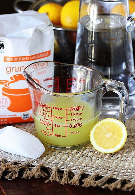 Homemade Lemonade Ingredients Image