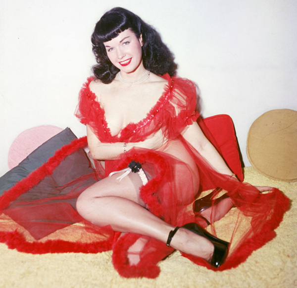 bettie-page-red-peignoir