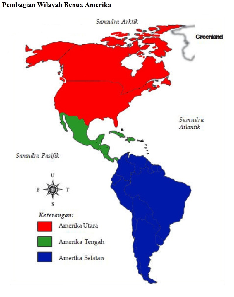 Negara Di Benua Amerika Beserta Ibukotanya : negara, benua, amerika, beserta, ibukotanya, Pembagian, Wilayah, Benua, Amerika, Beserta, Negara, Ibukotanya