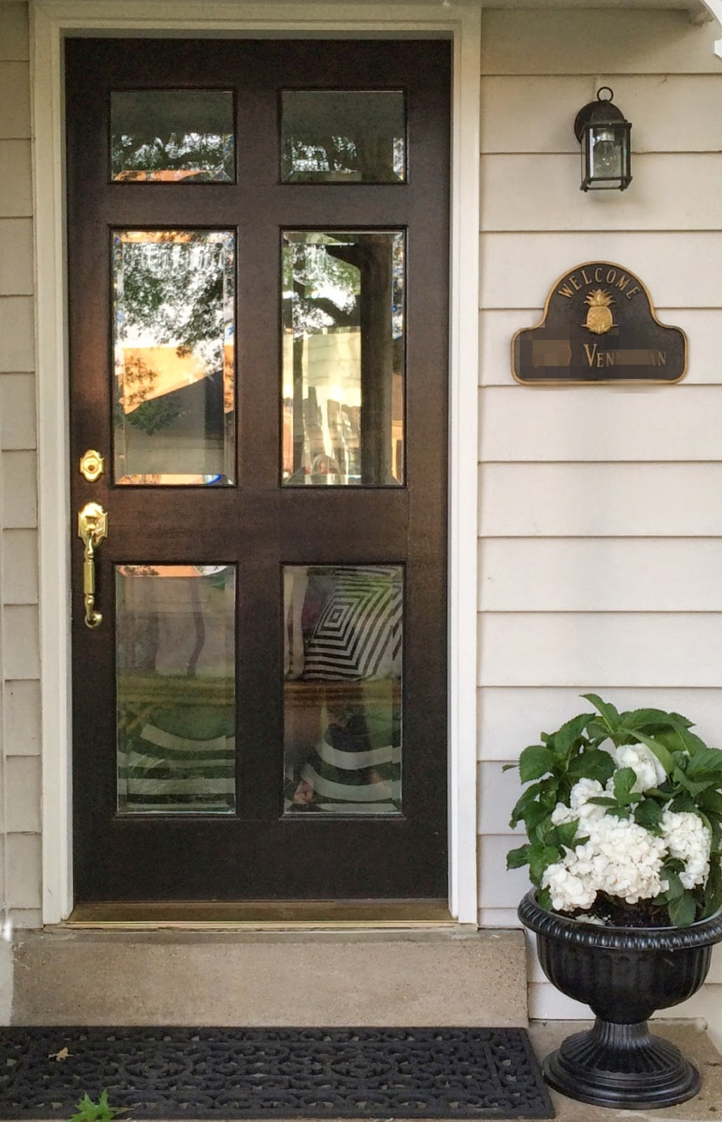 Little black door glass front doors don 39 t be afraid for Glass door in front of exterior door