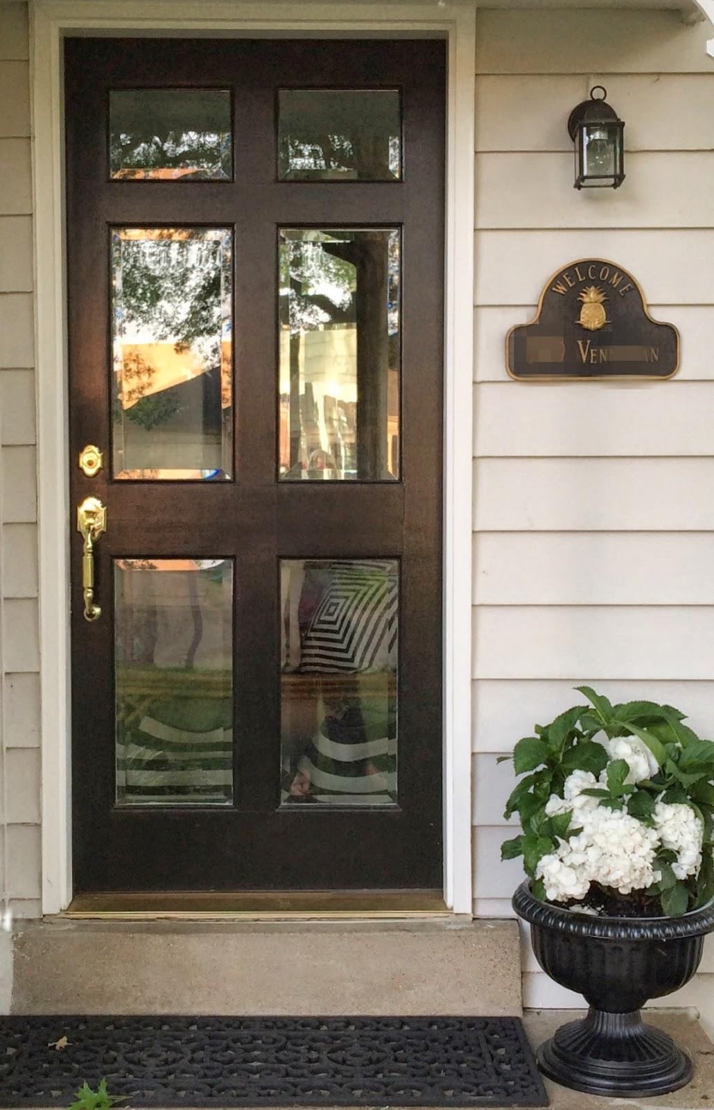 little black door: glass front doors