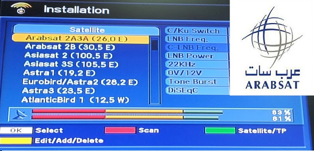 جميع ترددات وقنوات قمر عربسات Badr-4/5/6 - 26° East بتحديثات اليوم