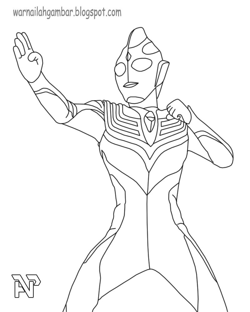 Mewarnai Gambar Ultraman Wwwtollebildcom