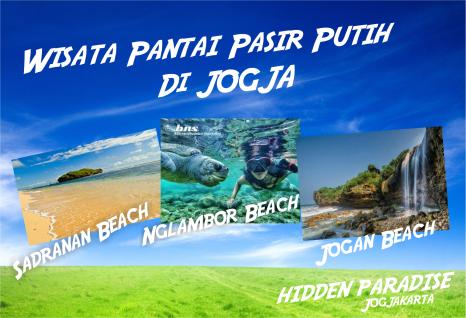 paket wisata pantai pasir putih di Jogja