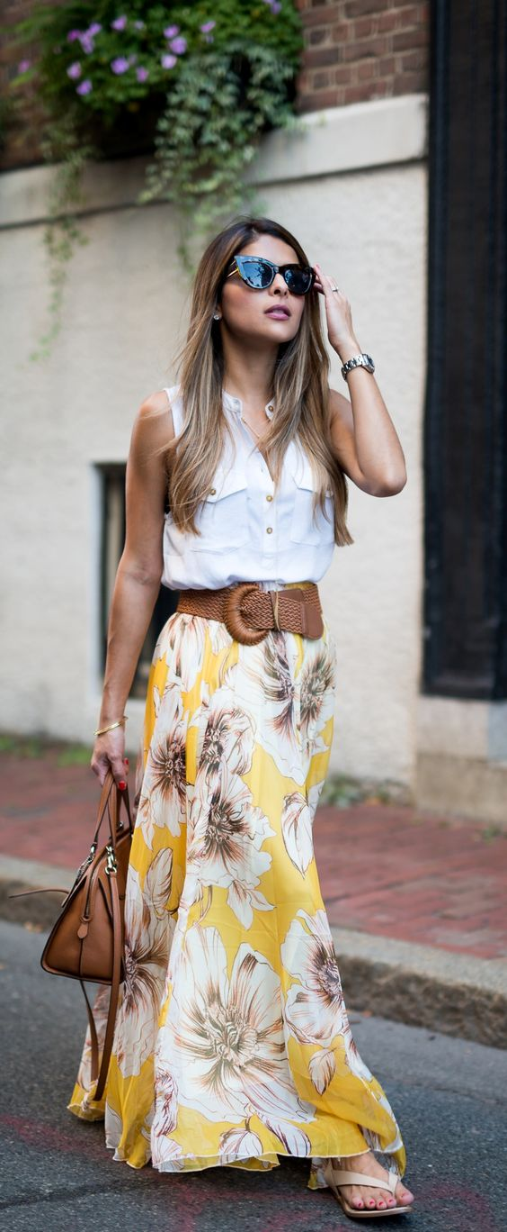 The peak of tr s chic fashion file still loving maxi skirts for Cute shirts for maxi skirts
