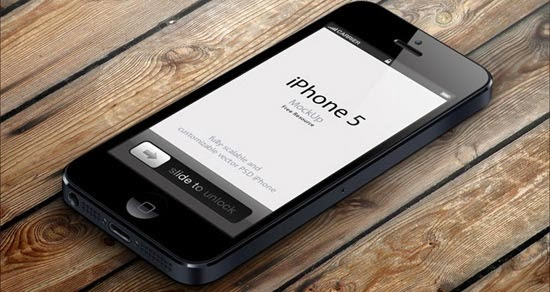 iPhone 5 Psd Vector Mockup