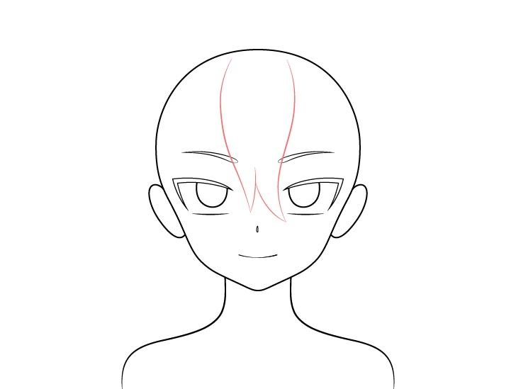 Gambar depan rambut gadis vampir anime