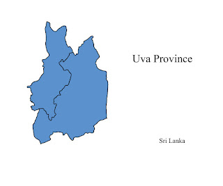 free download vector editable svg map of uva province sri lanka
