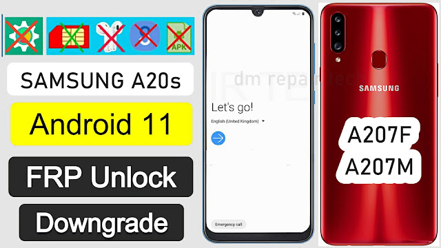 Samsung  A20s Android 11 FRP Bypass U2/Bit2 Google Lock