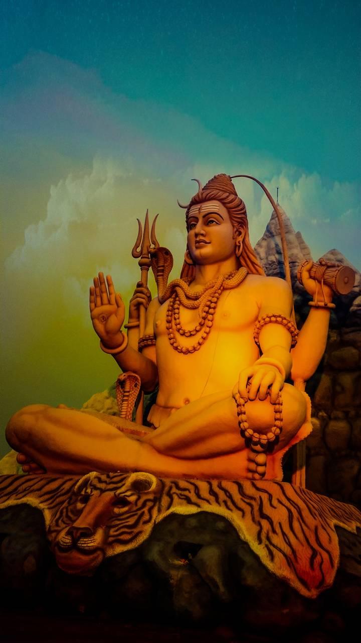 Lord-Shiva-statue-Wallpaper