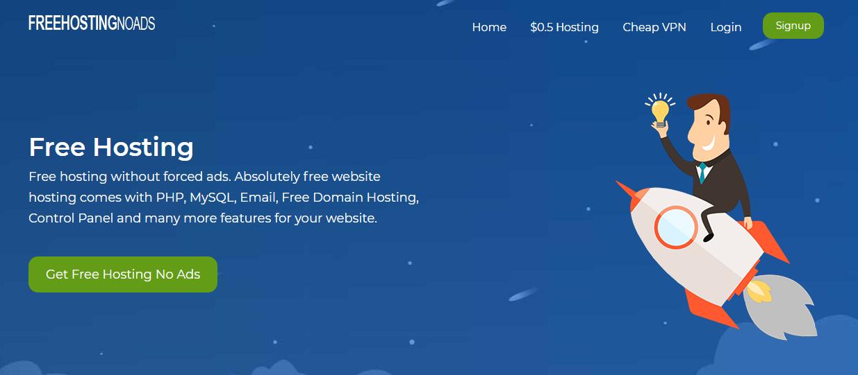 FreeHostingNoAds penyedia hosting gratis