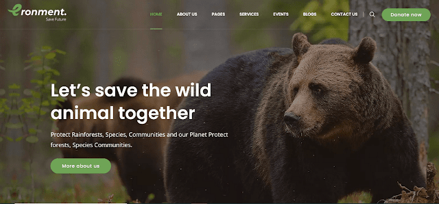 Best Nonprofit Environment WordPress Themes With Donation System |  Eronment