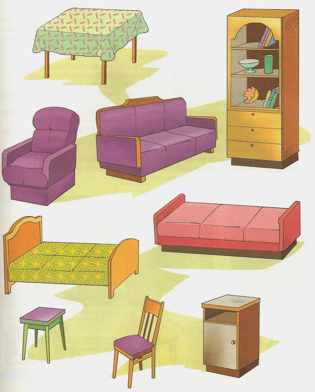 Предметы мебели для детей в картинках