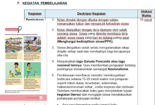 RPP Kelas 5 SD Kurikulum 2013 Revisi Tahun 2017 Integrasi PPK, Literasi dan Hots